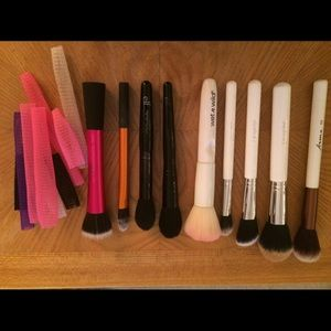 9 piece complexion makeup brushes